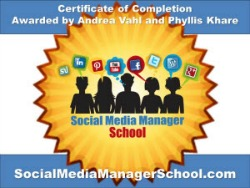 Social Media Manager School Certification